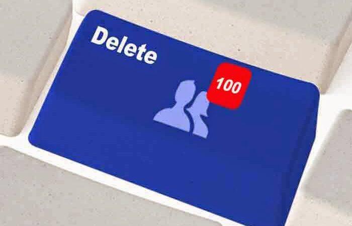 حذف جميع اصدقائك على الفيسبوك دفعه واحده